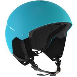 兒童單/雙板滑雪安全帽H 100,藍色