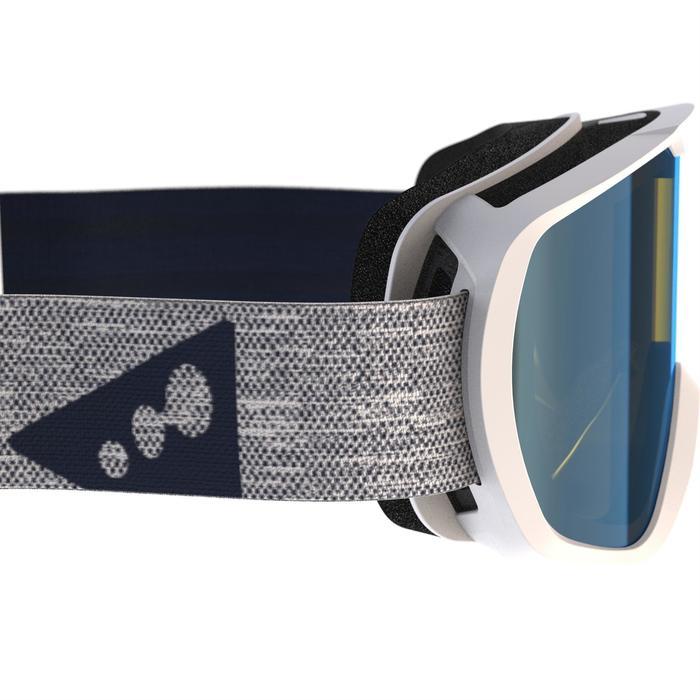 Ski-/Snowboardbrille G 500 Kinder und Erwachsene schlechtes Wetter weiß