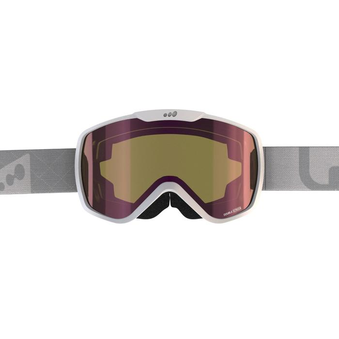 Ski- en snowboardbril voor dames en meisjes G500 zonnig weer wit