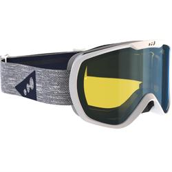 Ski- en snowboardbril volwassenen en kinderen G 500 bewolkt weer wit