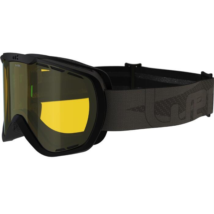 Ski- en snowboardbril volwassenen G 940 E elk weertype zwart