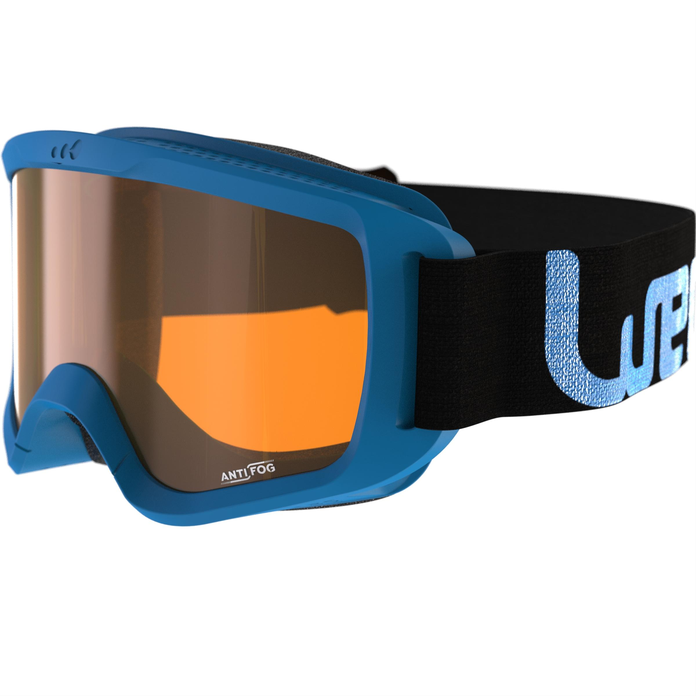 Ski en snowboardbril Snow 100 zonnig weer blauw P