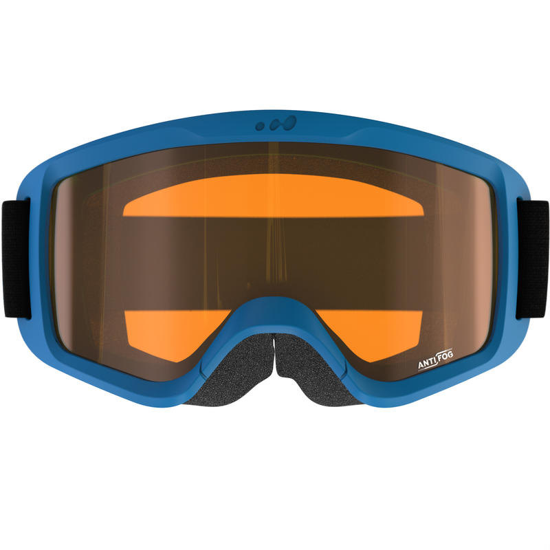 SNOWBOARDING GOGGLES MEN'S SNOW 100 FAIR WEATHER BLUE - P