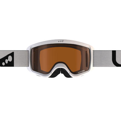 CHILDREN'S AND ADULT'S GOOD WEATHER SKIING AND SNOWBOARDING GOGGLES G140 - WHITE
