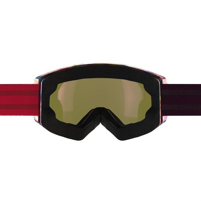 MASQUE DE SKI ET DE SNOWBOARD HOMME BONES 500 BEAU TEMPS ROSE - 18