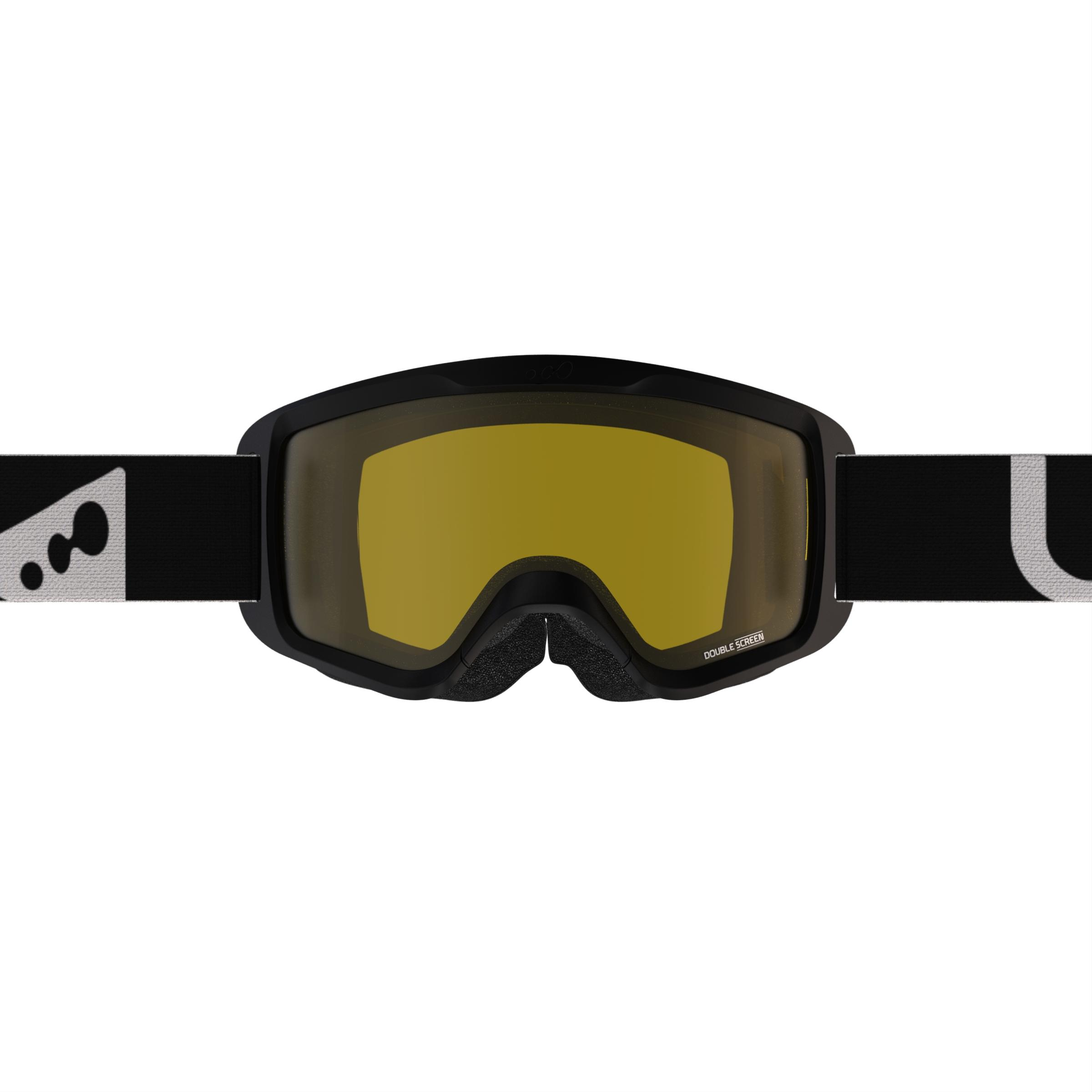 SKIING AND SNOWBOARDING MENS' SNOW 300 BAD WEATHER BLACK-P