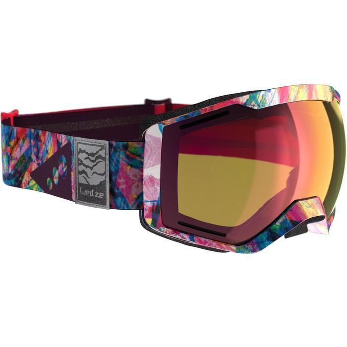 Skibrille Bones 500 schönes Wetter rosa