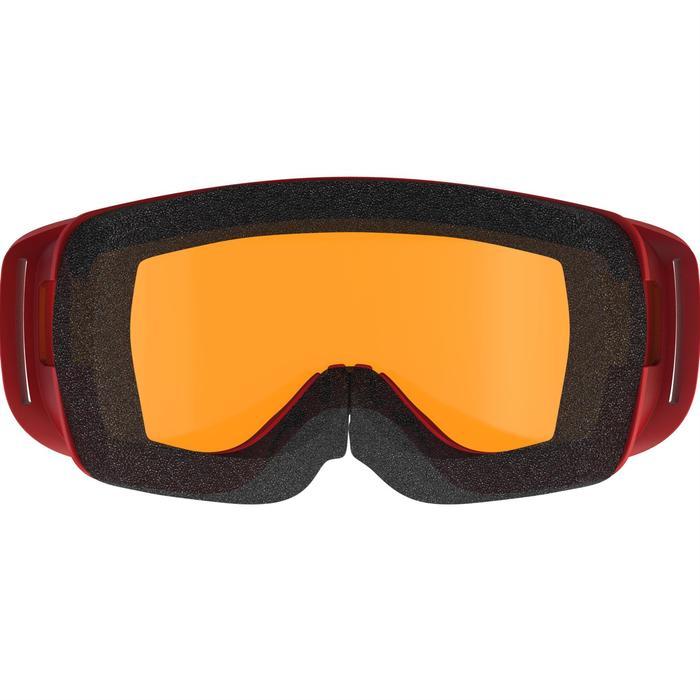 Masque de ski /luge bébé beau temps rouge
