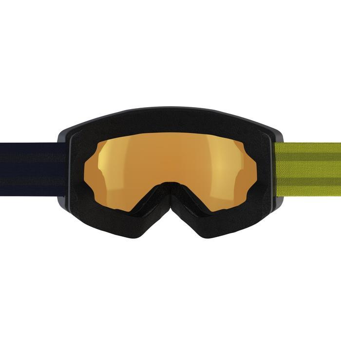 MASQUE DE SKI ET DE SNOWBOARD HOMME BONES 500 BEAU TEMPS GRIS-18 - 1178016