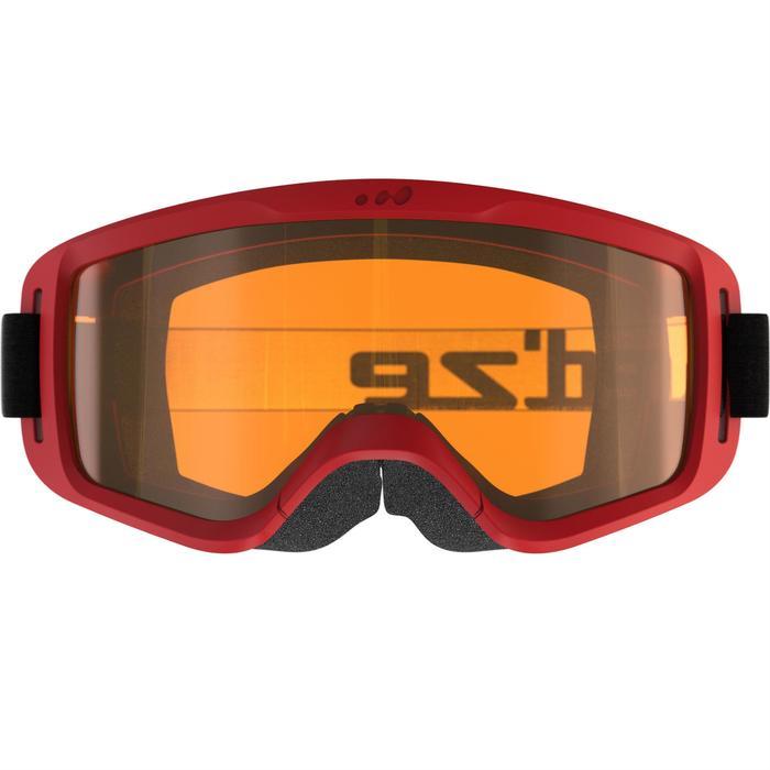 Skibrille/Schlittenbrille Baby für gutes Wetter rot