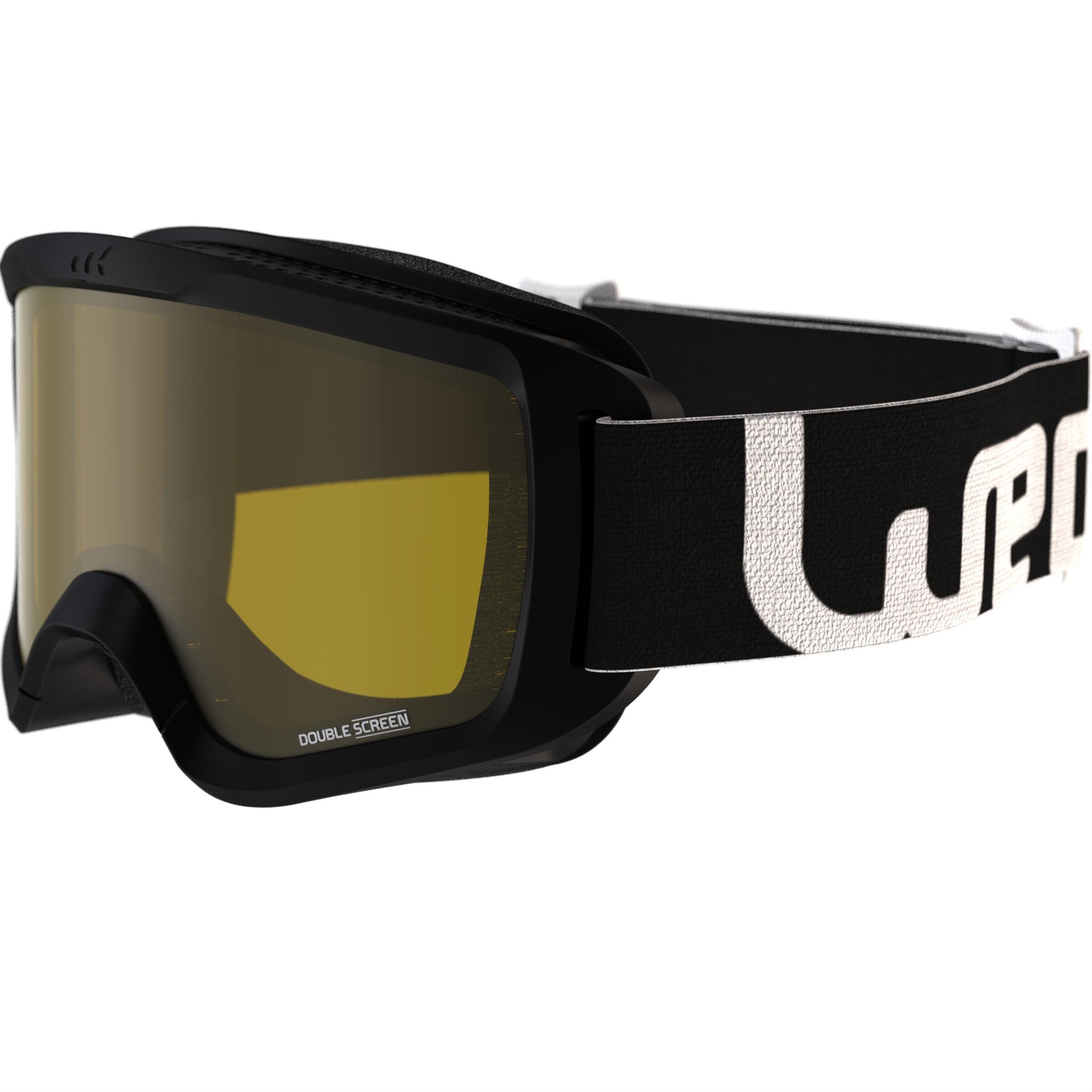 Wed'ze Ski- en snowboardbril Snow 300 bewolkt weer zwart - P thumbnail