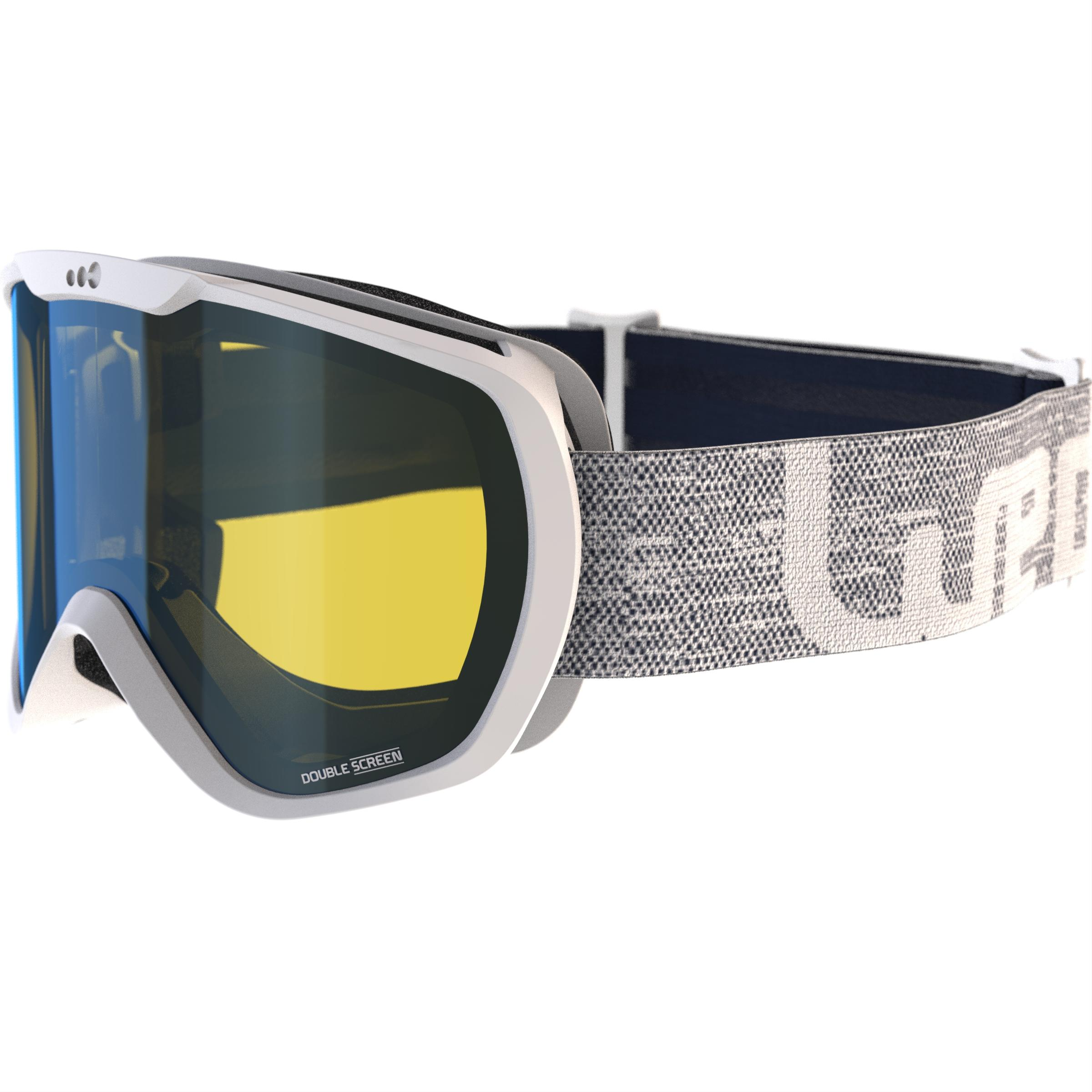G 500 Adult and Junior Bad Weather Ski and Snowboard Goggles - White