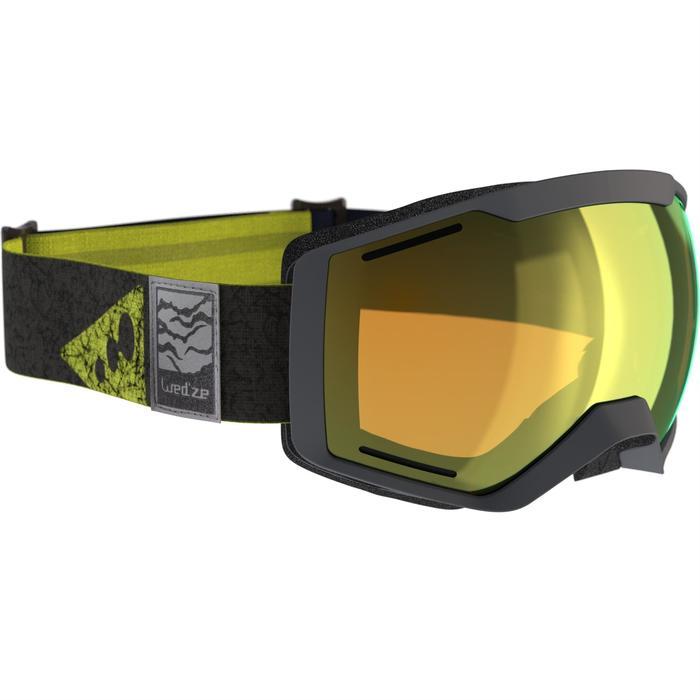 MASQUE DE SKI ET DE SNOWBOARD HOMME BONES 500 BEAU TEMPS GRIS-18 - 1178055