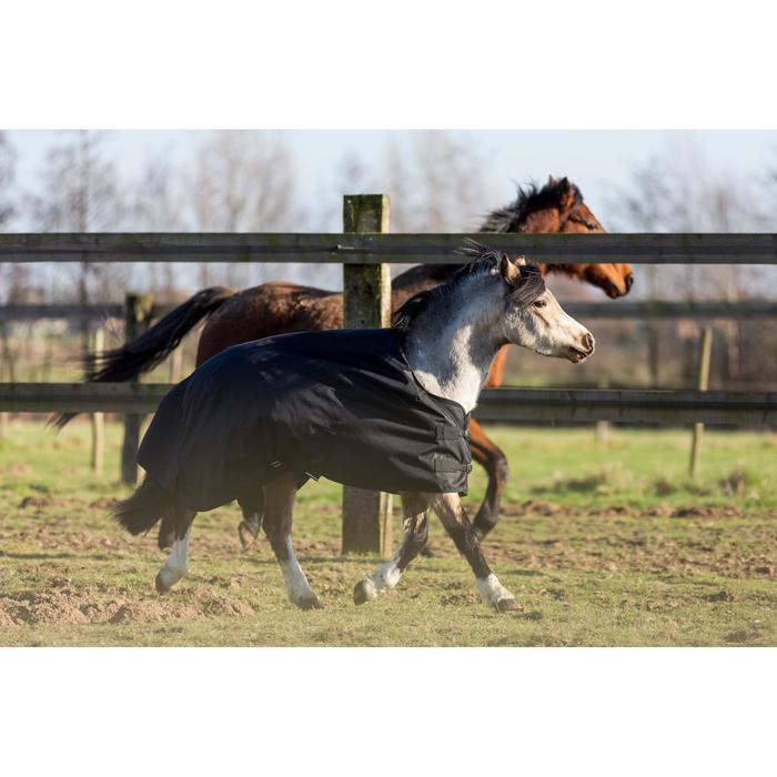 Couverture extérieur imperméable équitation poney IMPER 200 600D noir - 1178150