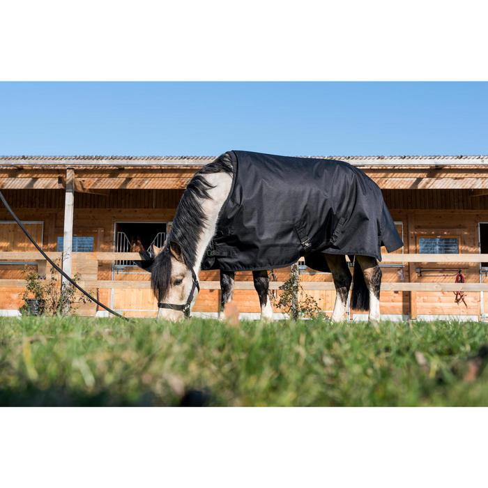 Waterdichte outdoordeken ruitersport pony Imper 200 600D zwart