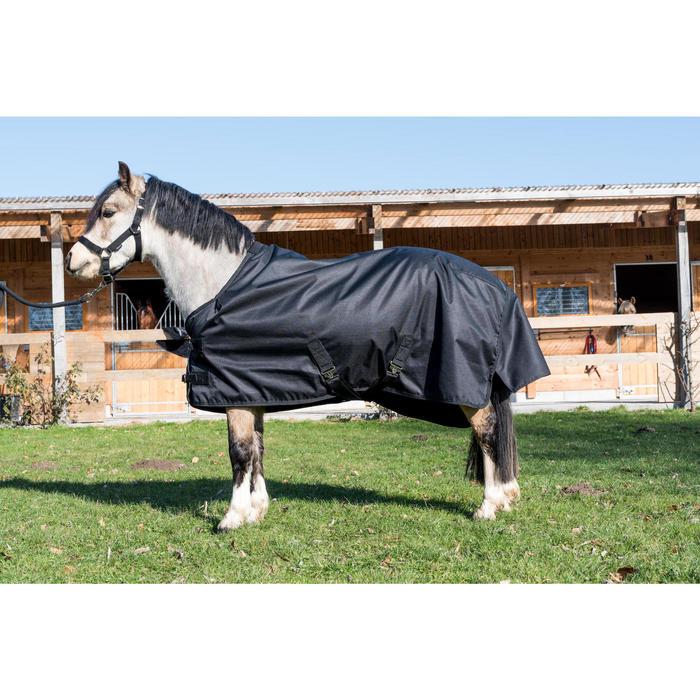 Couverture extérieur imperméable équitation poney IMPER 200 600D noir - 1178153