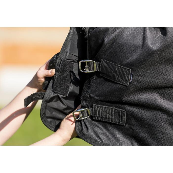 Couverture extérieur imperméable équitation poney IMPER 200 600D noir - 1178154