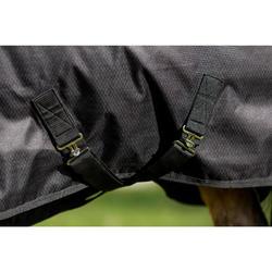 Manta Impermeable Equitación Fouganza IMPER 200 600D Negro Poni