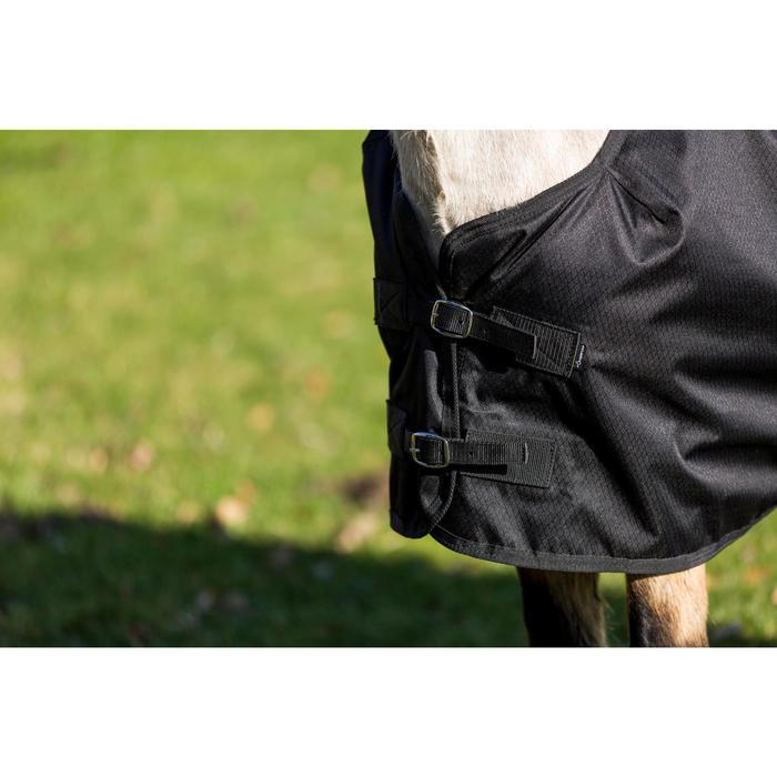 Couverture extérieur imperméable équitation poney IMPER 200 600D noir - 1178157