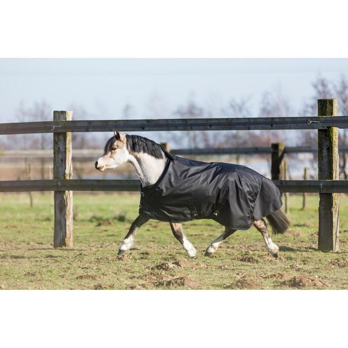 Couverture extérieur imperméable équitation poney IMPER 200 600D noir - 1178159