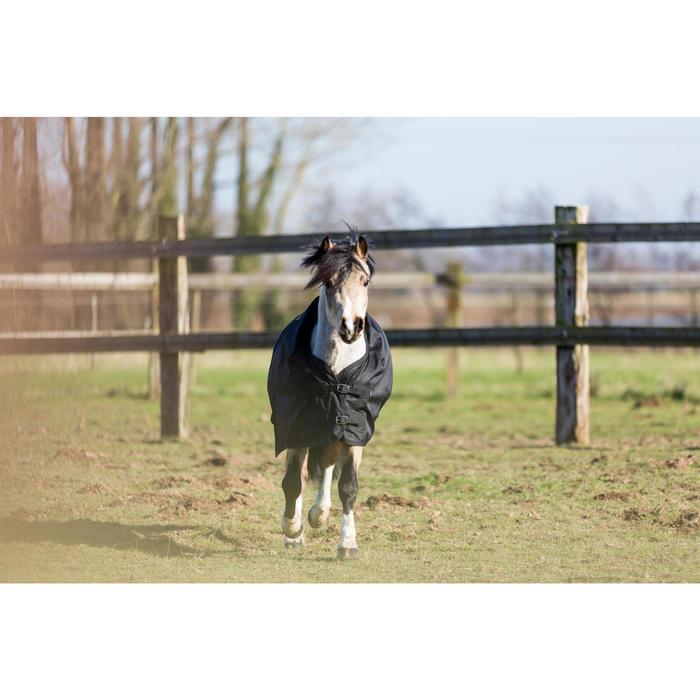 Couverture extérieur imperméable équitation poney IMPER 200 600D noir - 1178163