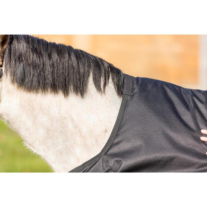 Couverture extérieur imperméable équitation poney IMPER 200 600D noir - 1178164