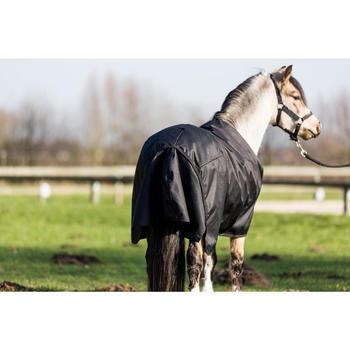 Couverture extérieur imperméable équitation poney IMPER 200 600D noir - 1178165