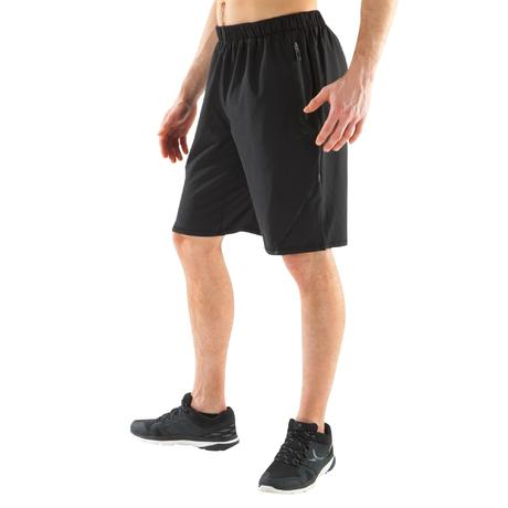 sporthose kurz muscle 500 fitness cross herren schwarz. Black Bedroom Furniture Sets. Home Design Ideas