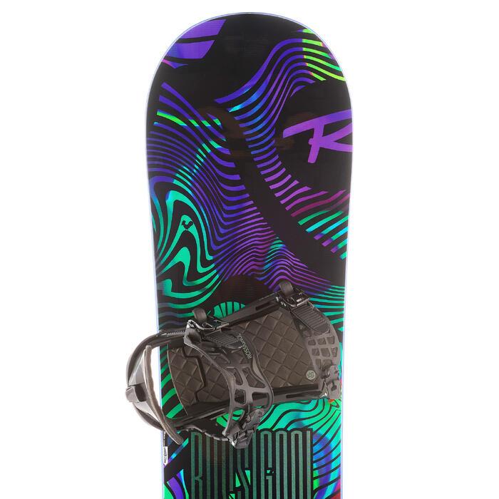 Pack snowboard freestyle homme, district noir et vert - 1178524