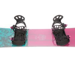Pack snowboard todo terreno mujer Gala rosa y azul