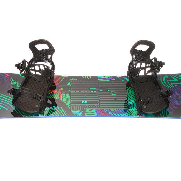 Pack snowboard freestyle homme, district noir et vert