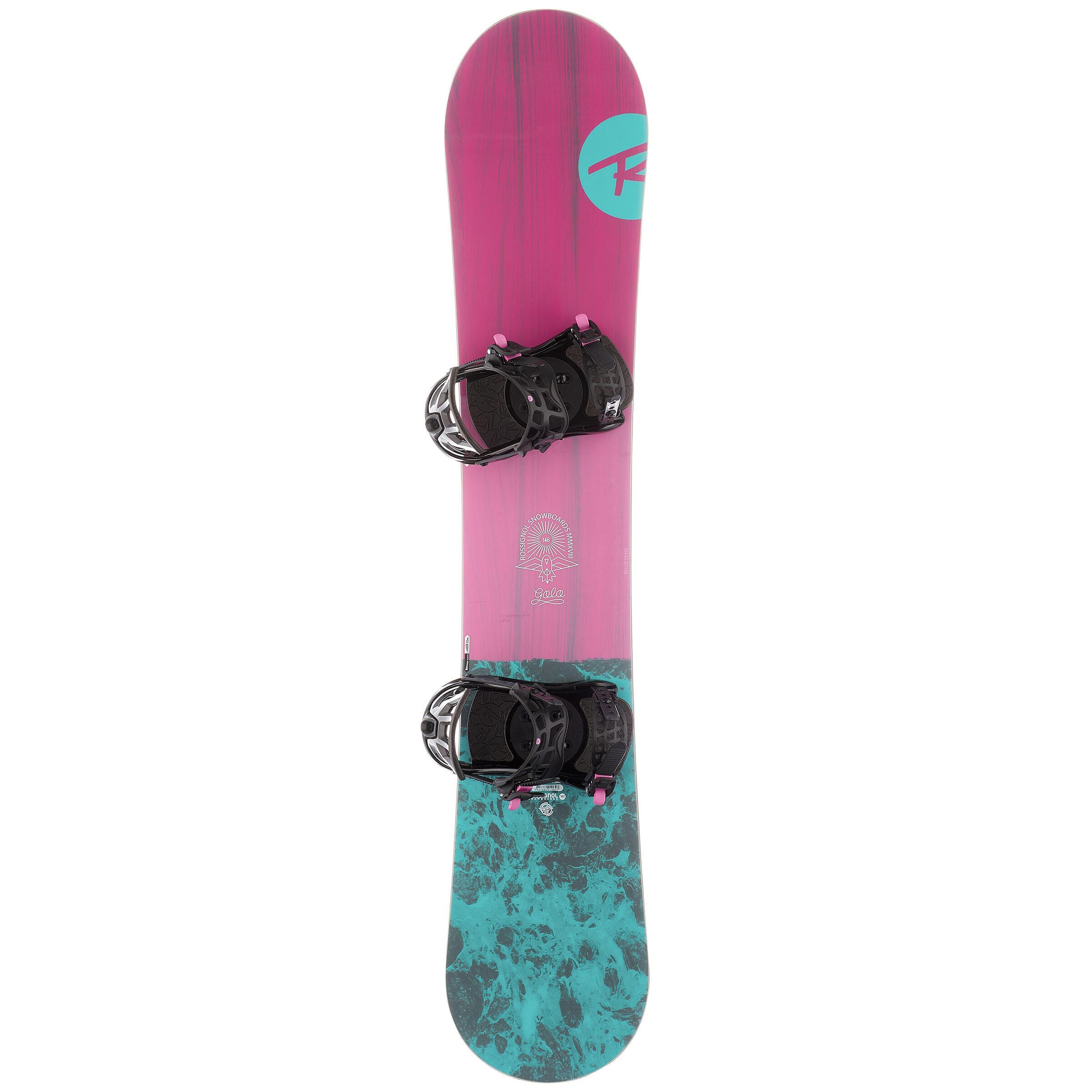 Rossignol Pack piste en all-mountain snowboard voor dames Gala roze en blauw