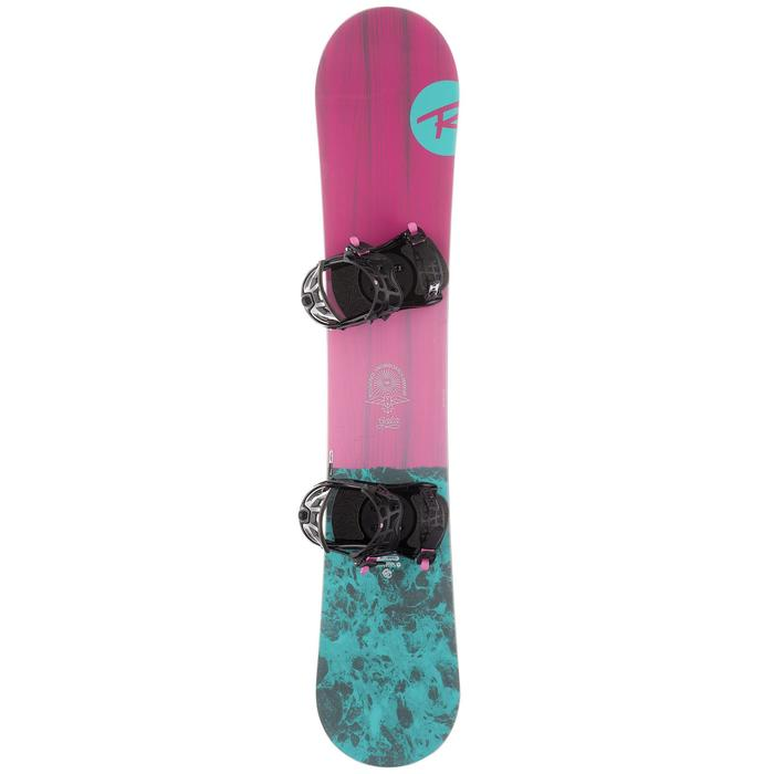 Pack piste en all-mountain snowboard voor dames Gala roze en blauw