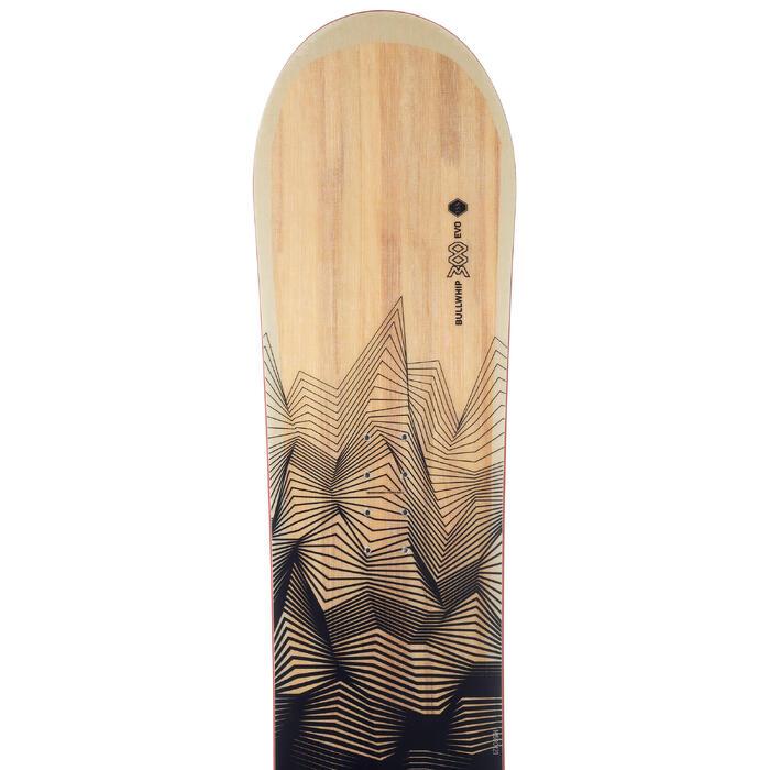 Snowboard Allroad 100 Piste Allmountain Herren schwarz/braun/rot