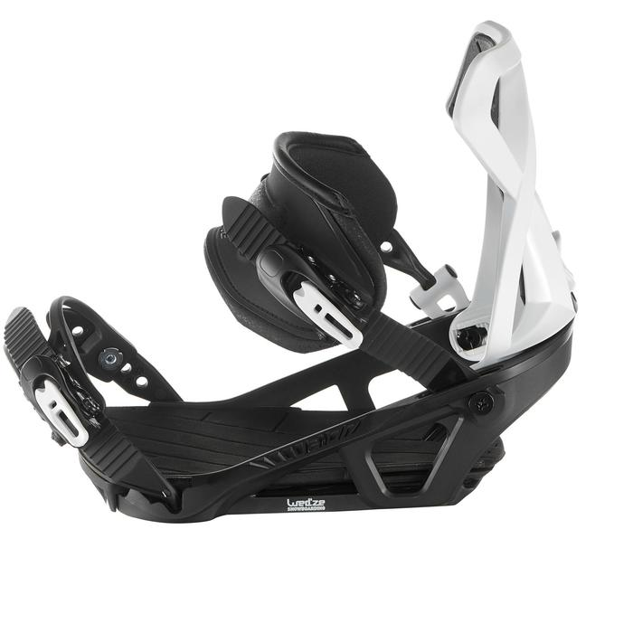 Fixations de snowboard homme et femme Illusion 700 noires et grises - 1178666