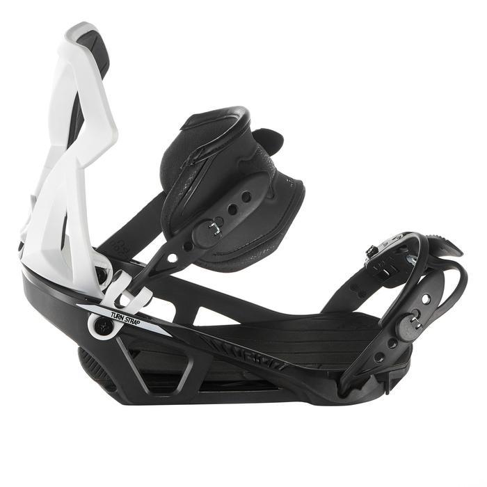 Fixations de snowboard homme et femme Illusion 700 noires et grises - 1178667