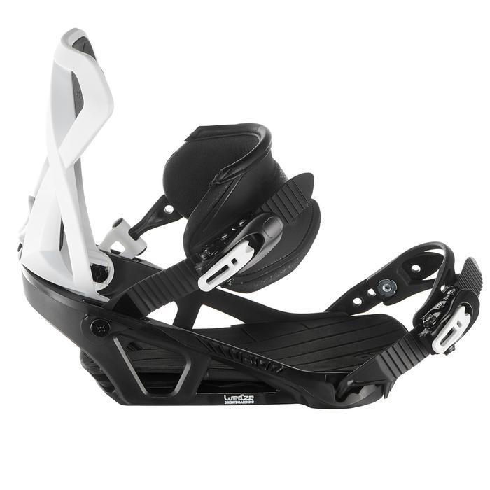 Fixations de snowboard homme et femme Illusion 700 noires et grises - 1178674