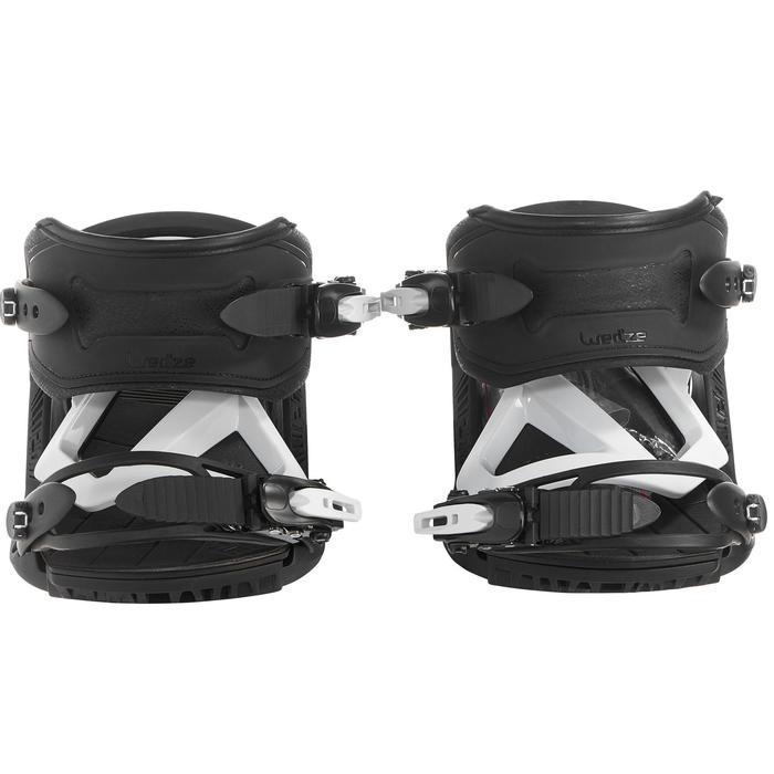 Fixations de snowboard homme et femme Illusion 700 noires et grises - 1178678