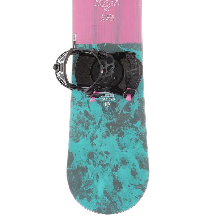 Pack snowboard piste & all mountain, femme, Gala rose et bleue