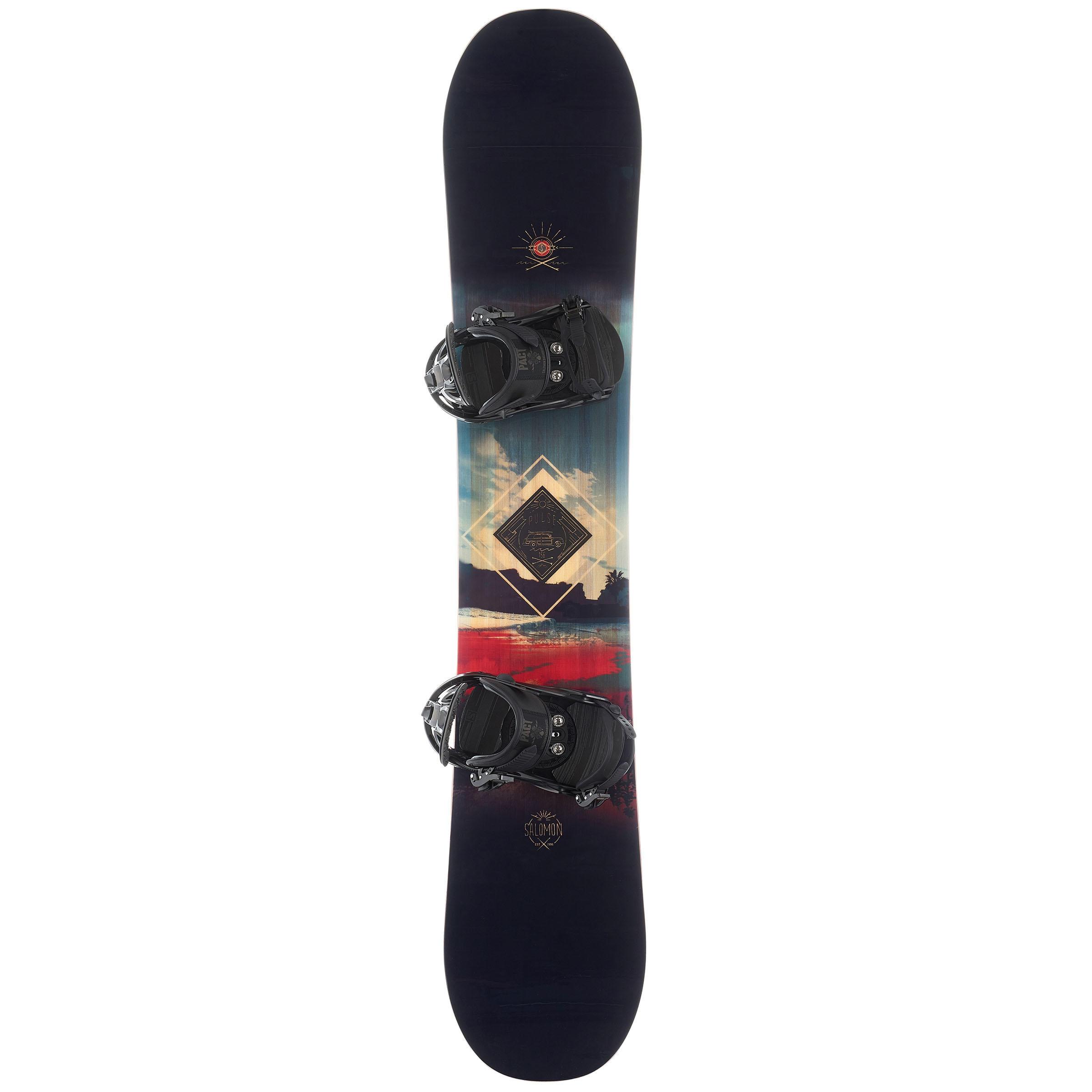 Salomon Snowboardset Freestyle/All Mountain heren Pulse zwart/rood/blauw thumbnail