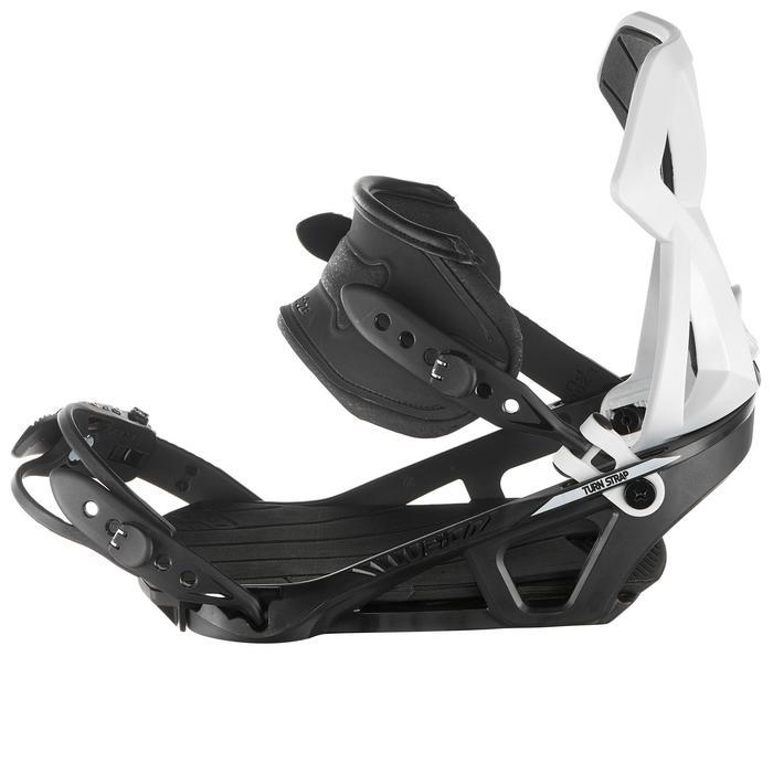 Fixations de snowboard homme et femme Illusion 700 noires et grises - 1178743