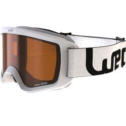 成人與兒童好天氣單/雙板滑雪護目鏡G 140 - 白色