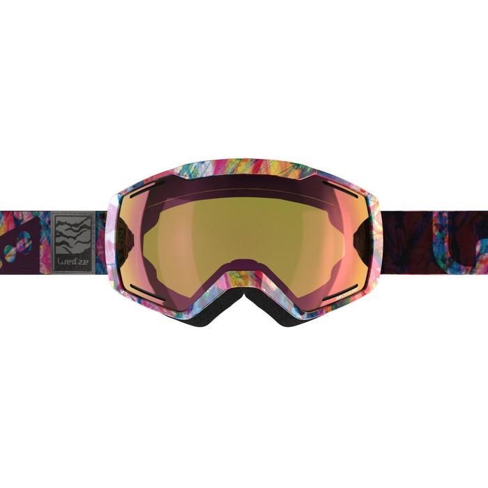 MASQUE DE SKI ET DE SNOWBOARD HOMME BONES 500 BEAU TEMPS GRIS-18 - 1178760
