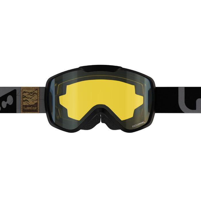 Ski- en snowboardbril voor volwassenen en kinderen G 500 PH alle weertypes zwart