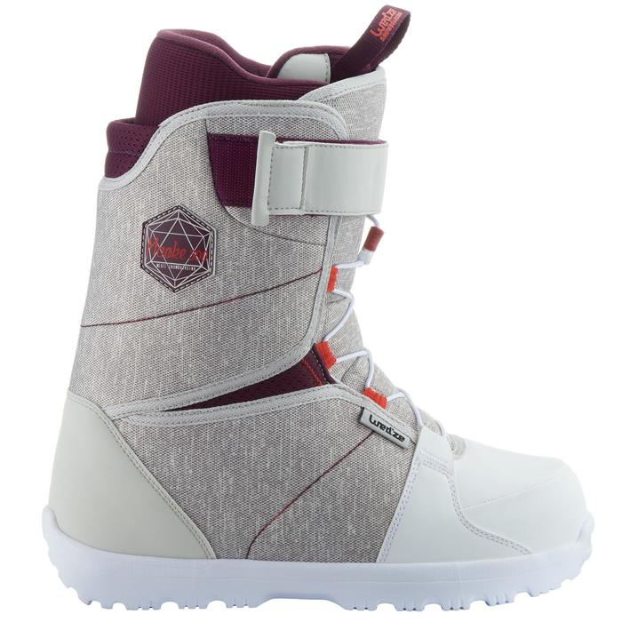 Chaussures de snowboard, all mountain, femme, Maoke 300 - Fast Lock 2Z, blanches - 1178767