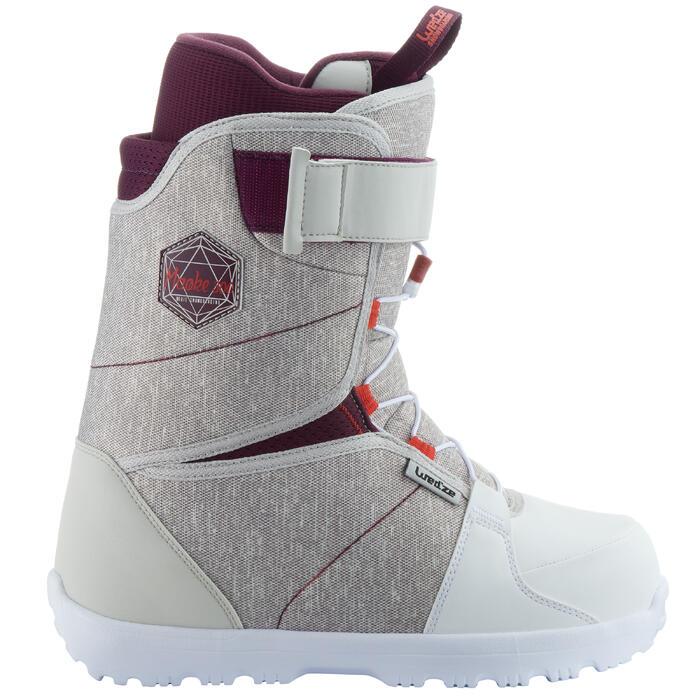 Chaussures de snowboard femme polyvalente, MAOKE 300, grise