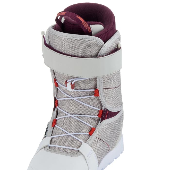 Chaussures de snowboard, all mountain, femme, Maoke 300 - Fast Lock 2Z, blanches - 1178769