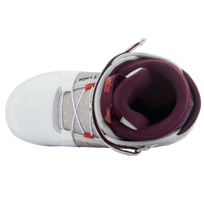 Chaussures de snowboard, all mountain, femme, Maoke 300 - Fast Lock 2Z, blanches - 1178774
