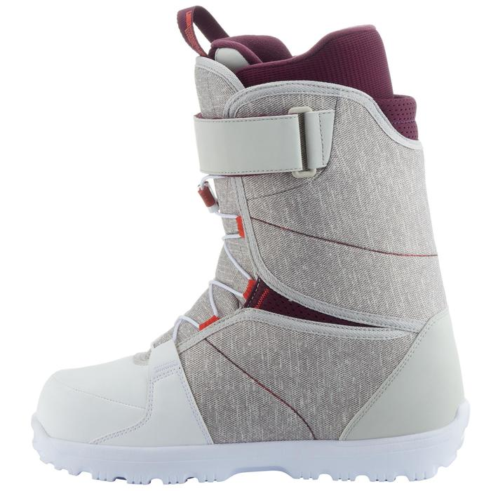 Chaussures de snowboard, all mountain, femme, Maoke 300 - Fast Lock 2Z, blanches - 1178775