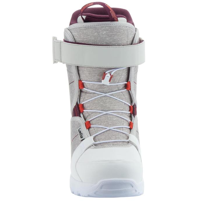 Chaussures de snowboard, all mountain, femme, Maoke 300 - Fast Lock 2Z, blanches - 1178778